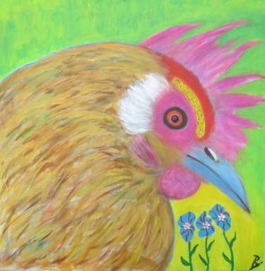 """Saatchi Art Artist Bjoern Beniston; Painting, """"CHARLIE THE CHICKEN"""" #art"""