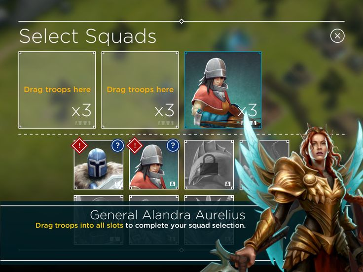 Rival Kingdoms - Tycoon Phase Troop Selection - UI HUD User Interface Game Art GUI iOS Apps Games