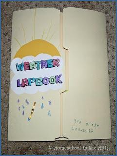 Weather Lapbook Grundschule, Wetter, Schule