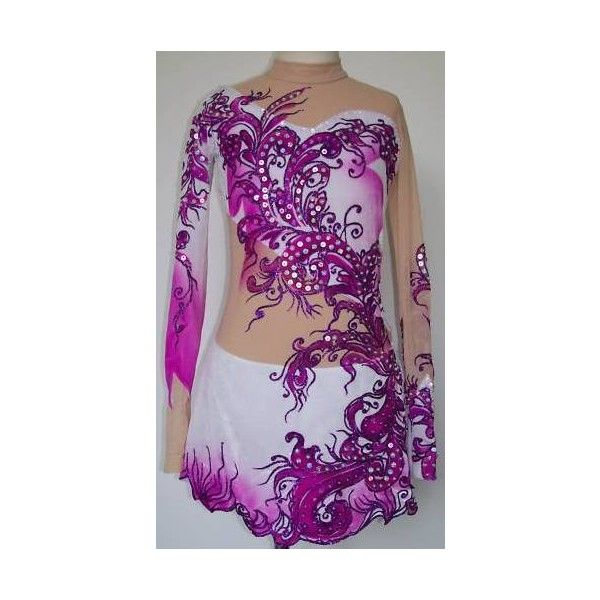 Competition Ice Figure skating dress/Rhythmic gymnastics leotard Made... ❤ liked on Polyvore