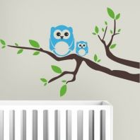 Owl family tree vinyl wall art