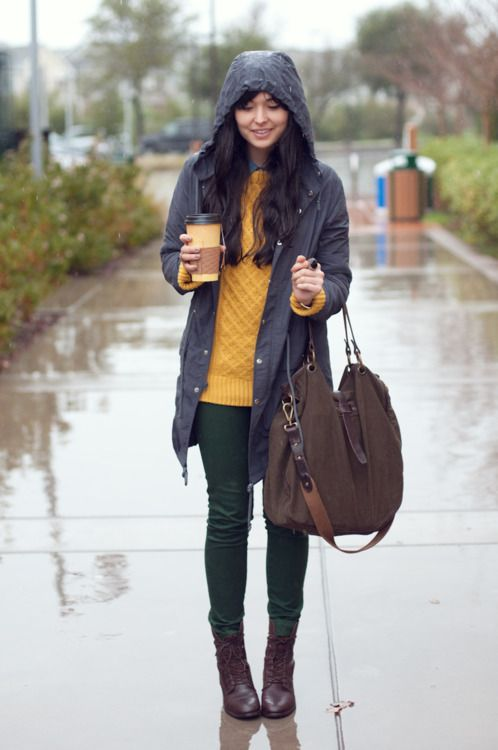 original cute rainy day outfit ideas