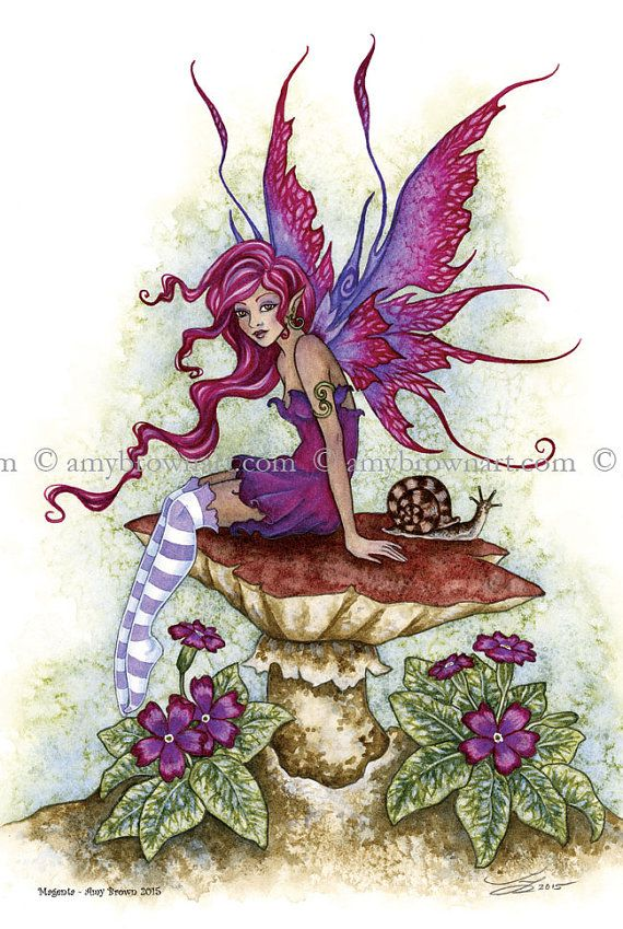 6x9 PRINT fairy by Amy Brown                              …