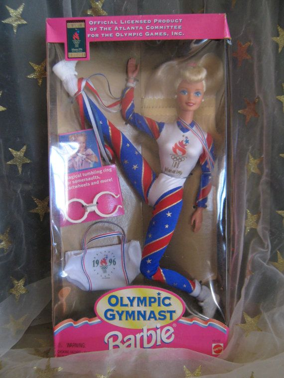 1996 Olympic Gymnast Barbie OMG. my daughter got this Barbie (black version) when we went to the '96 olympics!