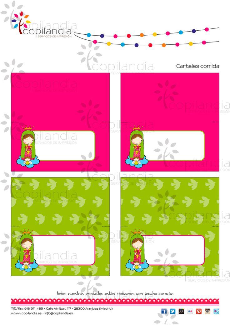 Kit Imprimible de Primera Comunión. Disponibles en: https://www.etsy.com/es/shop/CopilandiaEventos