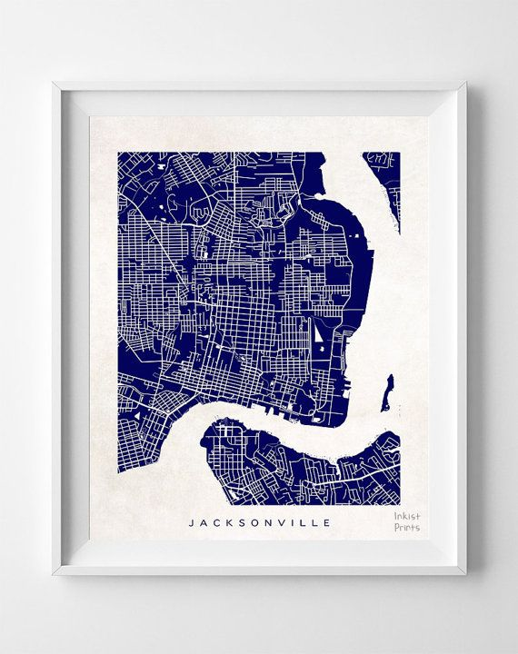 Jacksonville Florida Map, $19.95 - Shipping Worldwide! [Click Photo for Details]
