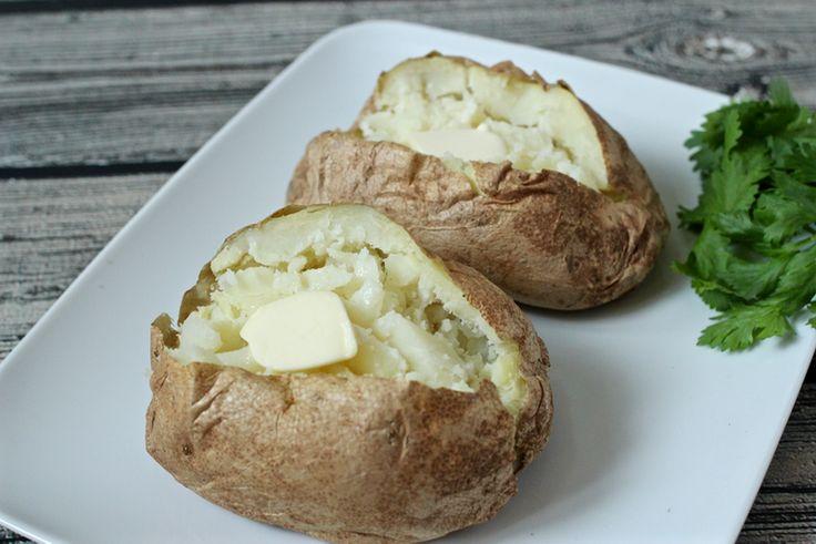 "Fast ""baked"" potatoes | FamilyFoodontheTable.com"