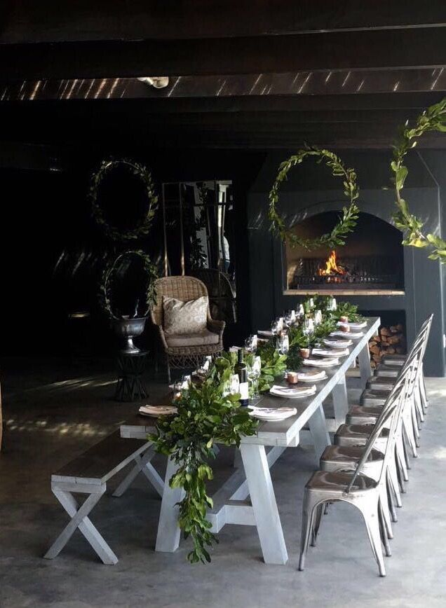 Celebrations at Newstead. Styled by Sue Lund #wedding #trending #decor #greenspaces #receptionideas #parties #winefarm #vineyard #plettenbergbay  #mood #