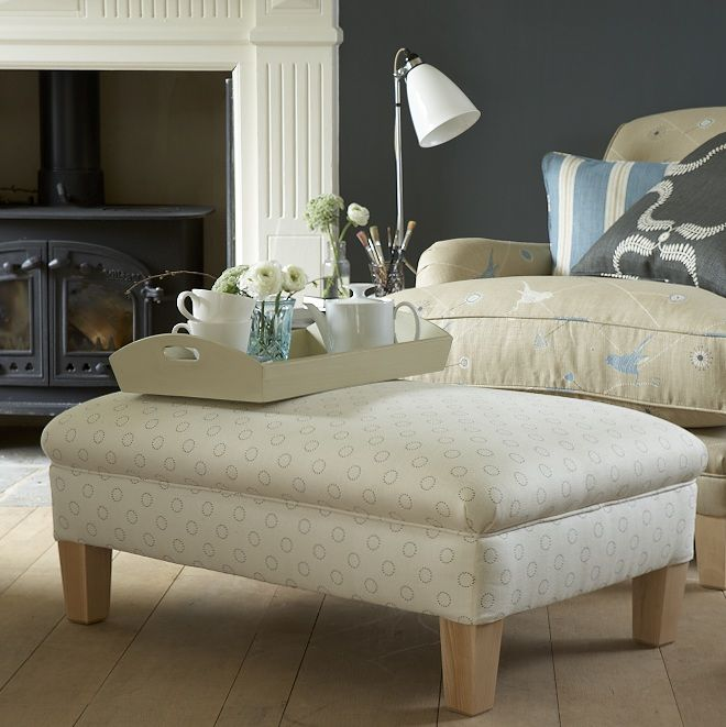 Our beautiful, firm upholstered footstool compliments both styles of sofas and chairs.  It can be ordered with tapered legs or turned legs and castors in any of our fabrics.