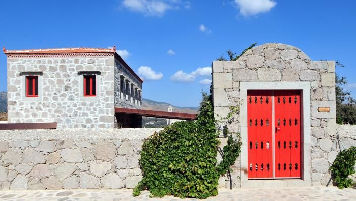 Each houses is color coded according to its architectural personality.  http://www.yarbasanevleri.com/index-en.php