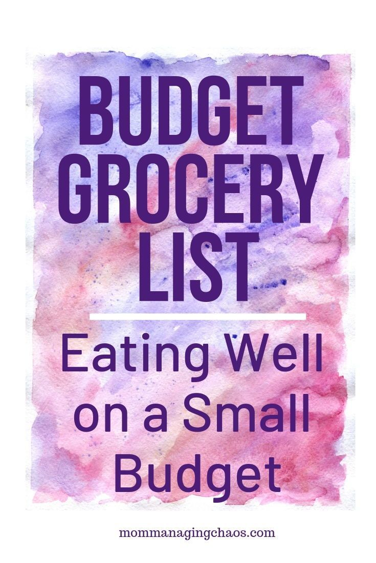 Cheap, Healthy Grocery List