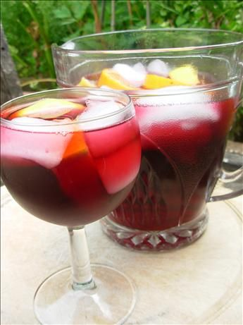 SANGRIA CON TEQUILA  1/3 cup water   4 cups fruity red wine   1 1/2 cups orange juice   1 cup fresh lime juice   3/4 cup tequila   1/4 cup triple sec   1 -2 cup sparkling water   garnish With An ORANGE slice