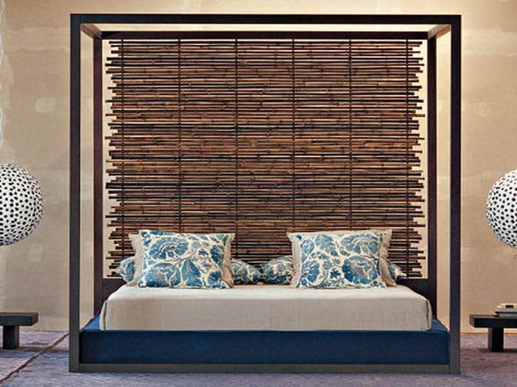 Bamboo Headboard With Cool Design