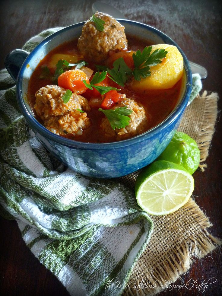 Mexican Meatball Soup - Sopa de Albondigas is pure Mexican comfort food made with love, then ladled in a favorite bowl to be enjoyed on a cold day. This fabuloussoup centers around the famous Mexi...