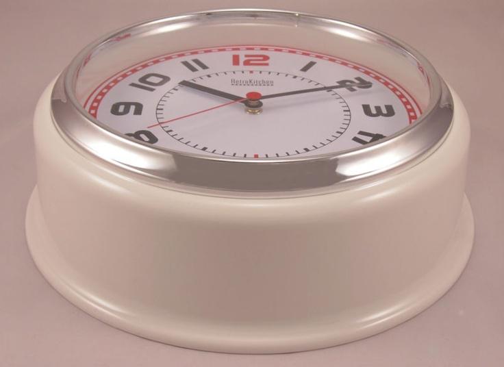Steady Sticks Retro Kitchen white wall clock, great gift idea