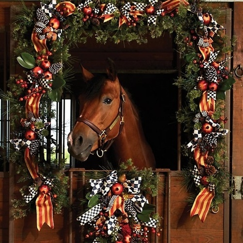 all decked out in Mackenzie Childs ~ gorgeous! would make a beautiful Christmas card!