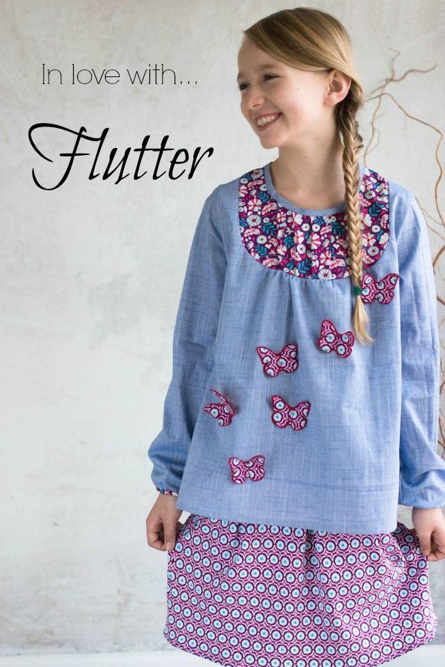 Flutter - die neue Stoffkollektion von Jolijou..oder wie man Mädchenherzen hüpfen lassen kann...