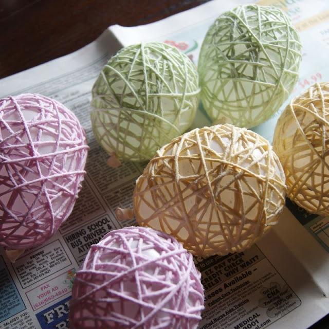 usar globos para hacer lamparitas con piola tenhida!