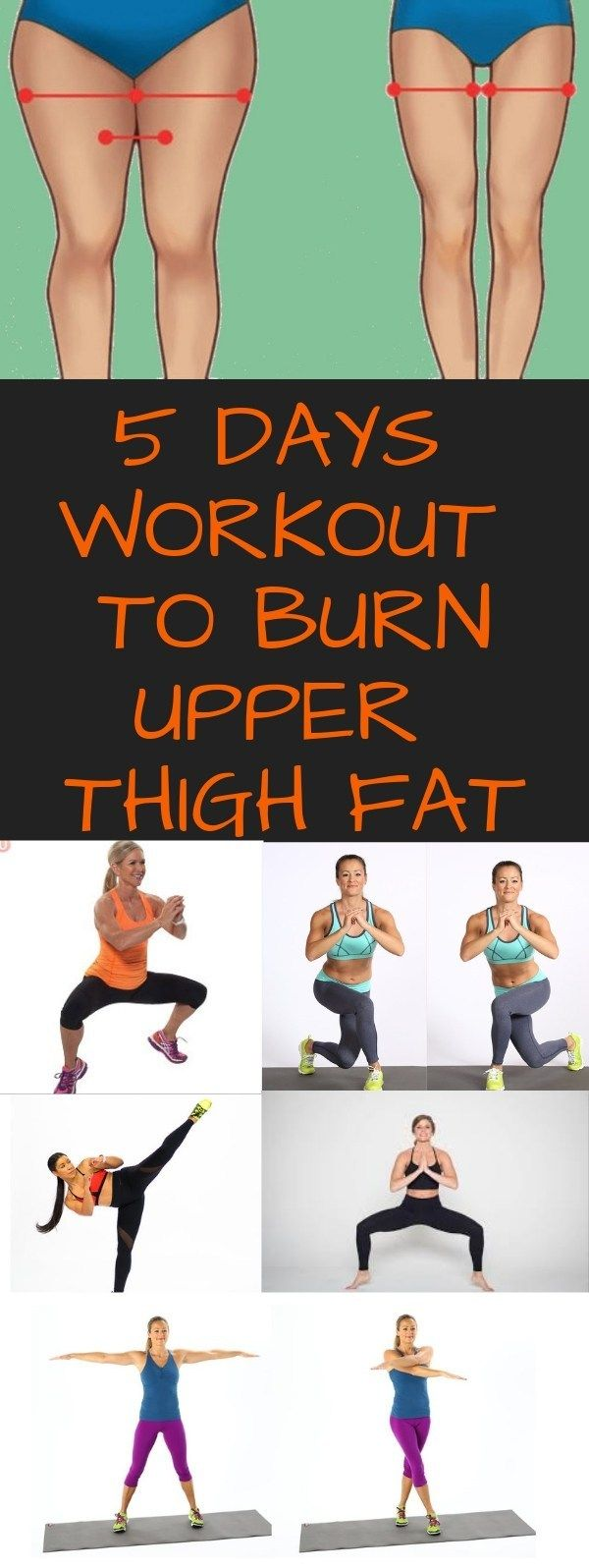 5 DAYS WORKOUT ROUTINE TO GET RID OF UPPER THIGH FAT