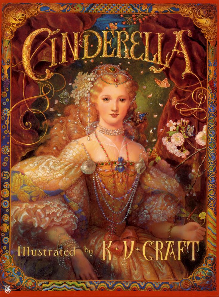 "Isn't this beautiful... Kinuko Y. Craft, cover art for ""Cinderella"""