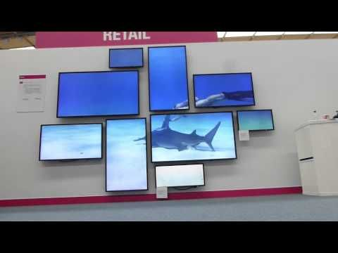 Video Wall Design c series cards offer various configuration options c series cards offer a range of configuration options comprising 2 to 18 screens Creative 4k Video Wall Datapath Onelan Nec Showcase 2014 Youtube