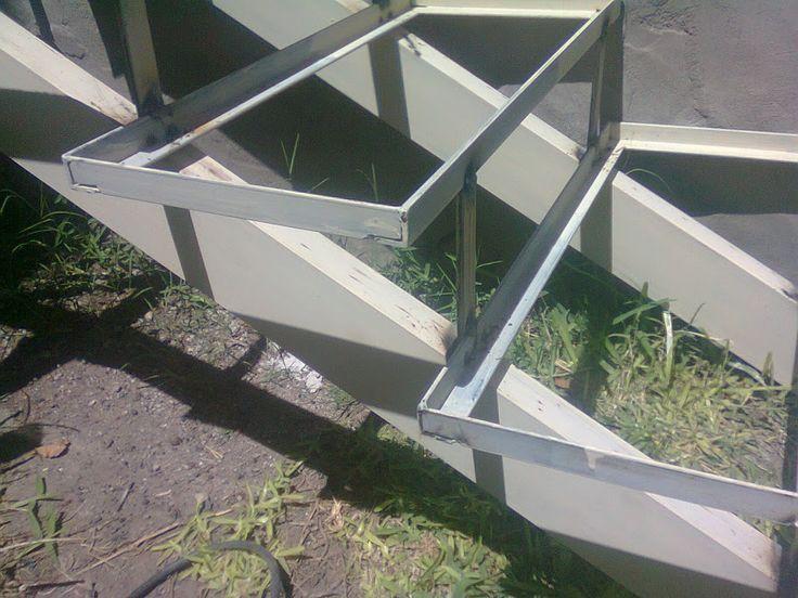 Mejores 934 im genes de escaleras en pinterest escalera for Planos de escaleras de hierro