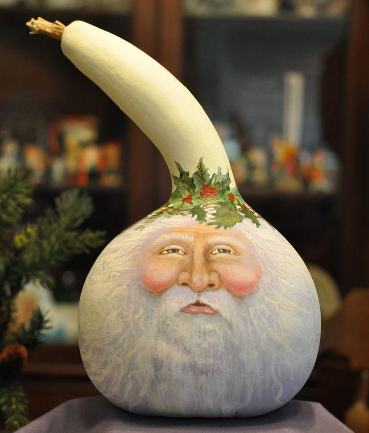 Jack Frost Santa Gourd