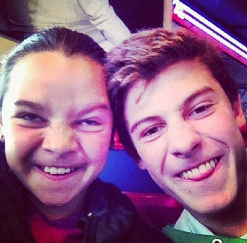 Shawn and Aaliyah | We Heart It | shawn mendes, family, and cute