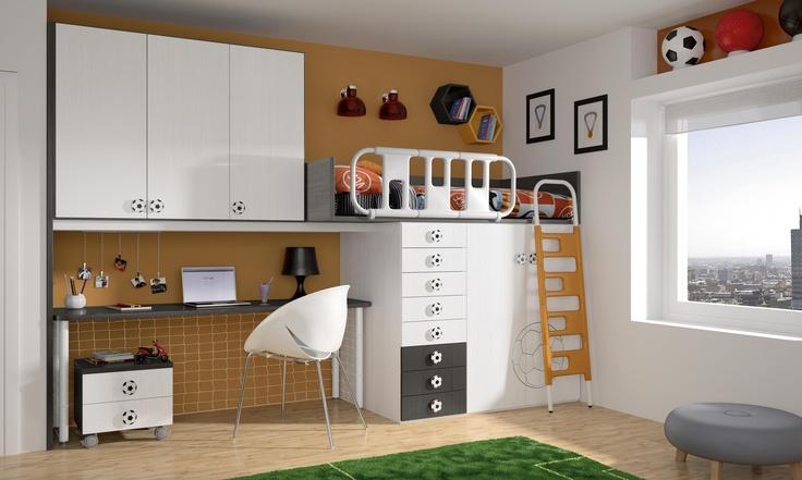 Habitación infantil temática fútbol 4 - Valencia