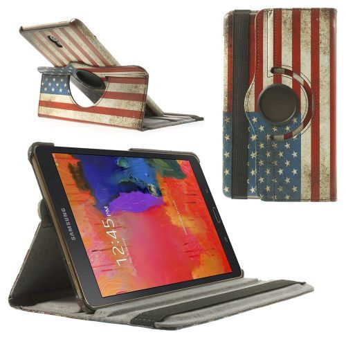 Mesh - Samsung Galaxy Tab S 8.4 Hoes - Rotatie Cover Amerikaanse Vlag | Shop4TabletHoes