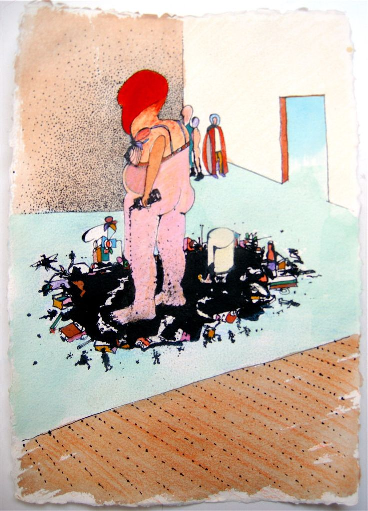 Pim van Halem. Ink spill