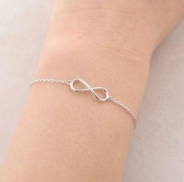 unendlich Armband, infinity armband, silber von Superarmband auf DaWanda.com