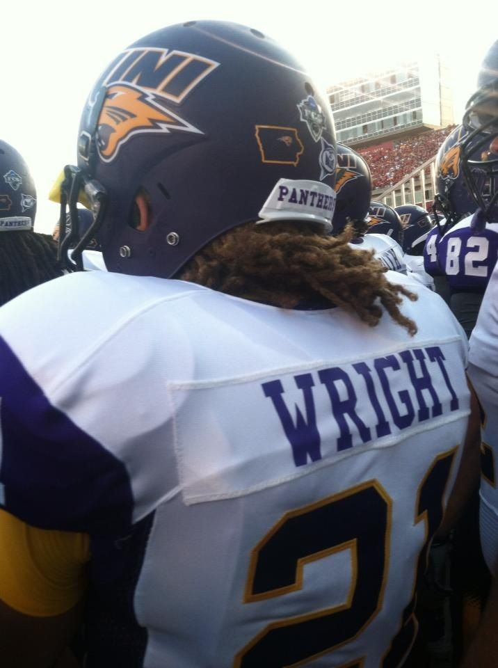 The Wright One for Panther Football  Go UNI 2013 opener against Iowa State 28-20