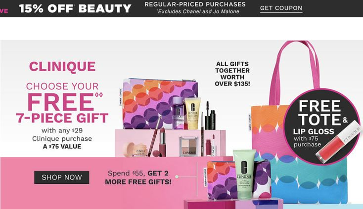 Belk 15 off beauty 7 pcs gift with 29 clinique