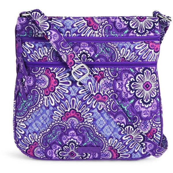 Vera Bradley Triple Zip Hipster in Lilac Tapestry ($58) ❤ liked on Polyvore featuring bags, handbags, lilac tapestry, zip purse, vera bradley, vera bradley handbags, hipster purses and tapestry purse