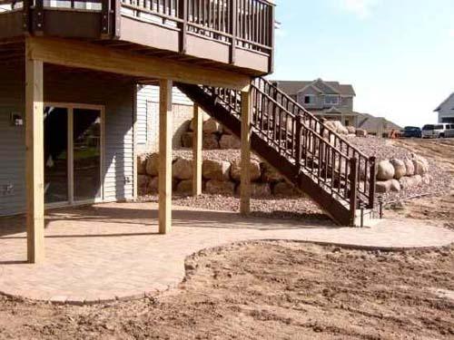 walk out basement patio