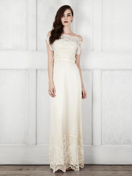 Love the lace at the bottom   Shop the Catherine Deane Bridal Omelia gown at http://shop.catherinedeane.com/collections/all/products/omelia now #bridal #weddingdress