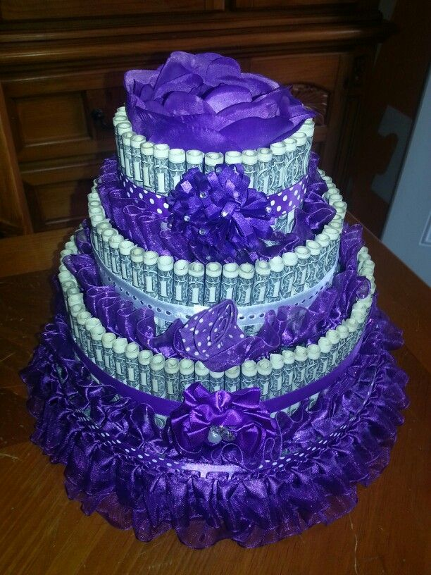 Crafts out of dollar bills - Money cake decorations ...