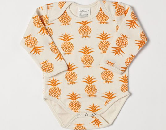 SoftBaby's organic clothing features a variety of lively prints for hip babies