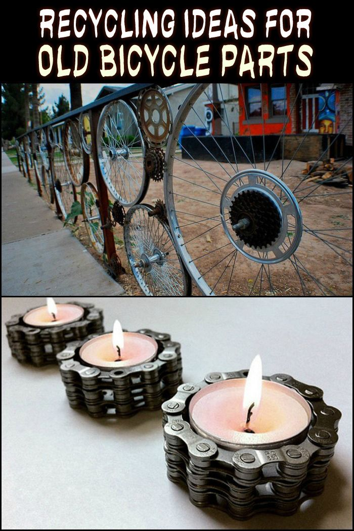 Got a bicycle that has seen better days? Check out these recycling ideas!