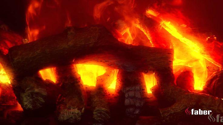 Elektrisch vuur met 3 dimensioneel vuurbeeld door middel van waterdamp. Opti-myst cassettes van Faber Haarden