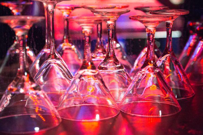 Absolute Bartending Martini glasses.