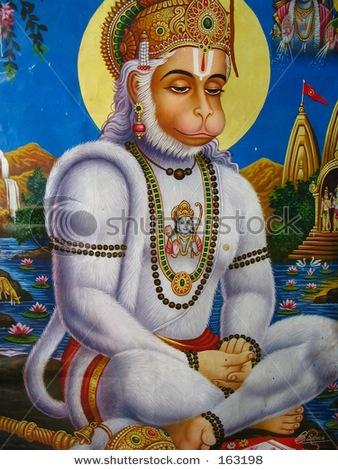 Hanuman Monkey God devotee of Lord Rama.