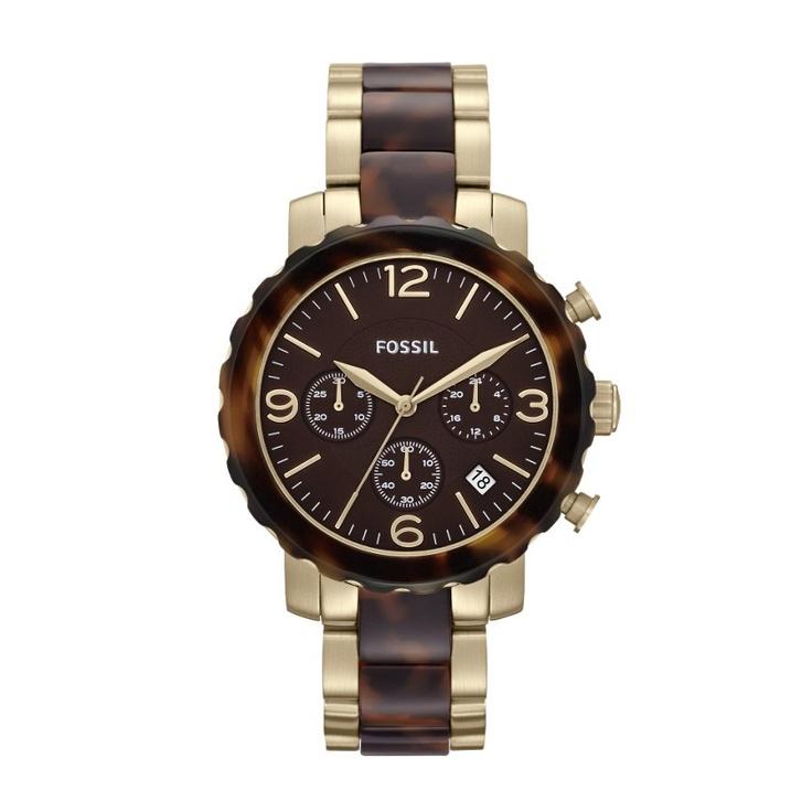 Stalen Fossil horloge met quartz chronograaf, datum, 24 uurs aanduiding een een stopwatchfunctie. Te koop bij http://www.horloge-bandjes.nl voor €179.