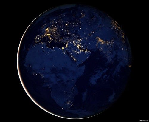 #EarthHour from space. What a sight…#ActOnClimate for #liveEARTHhour: http://www.liveearth.org/