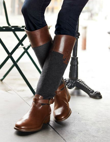 Tory Burch Flannel Riding Boots omg want!