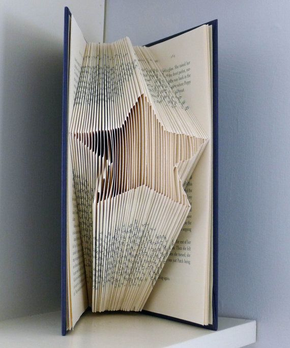 Star  Christmas Decoration  Folded Book Art  by LucianaFrigerio, $40.00