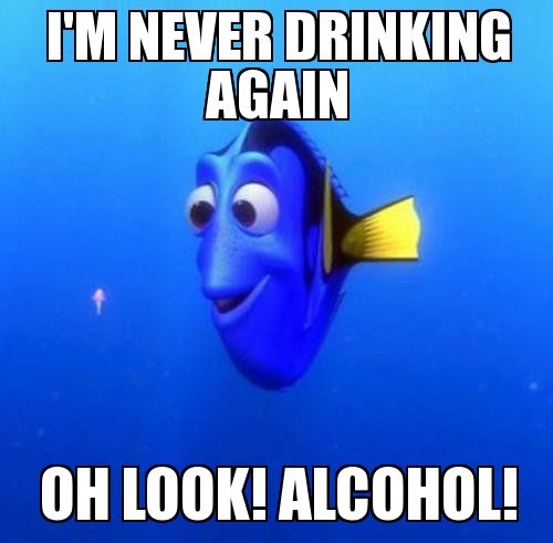 Dory | I'm never drinking again Oh look! Alcohol! - WeKnowMemes