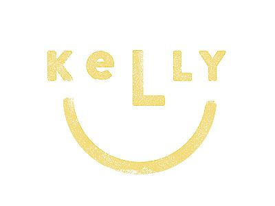 Kelly logo. Fun and clever smiley.