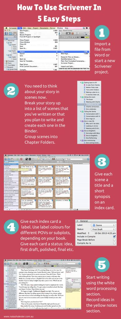 How To Use Scrivener To Write A Book in 5 Easy Steps. Includes several articles about using Scrivener as both a writing and an editing tool.